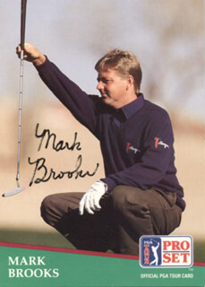 Autographs: MARK BROOKS - TRADING/SPORTS CARD SIGNED