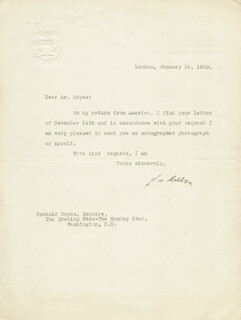 Autographs: ANDREW MELLON - TYPED LETTER SIGNED 01/14/1933