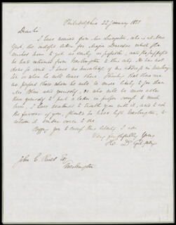 HENRY D. GILPIN - AUTOGRAPH LETTER SIGNED 01/22/1837