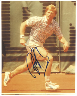 BORIS BECKER - AUTOGRAPHED SIGNED PHOTOGRAPH