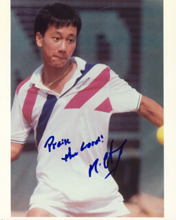 MICHAEL CHANG - AUTOGRAPHED SIGNED PHOTOGRAPH