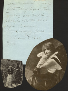 LILLIAN GISH - AUTOGRAPH LETTER SIGNED 03/21/1914
