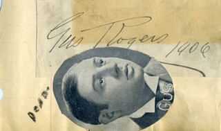 GUS ROGERS - AUTOGRAPH 1906