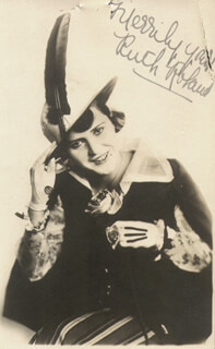 RUTH ROLAND - PICTURE POST CARD SIGNED