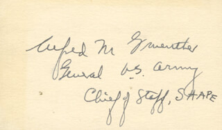 GENERAL ALFRED M. GRUENTHER - AUTOGRAPH
