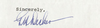 Autographs: GENERAL GEORGE H. DECKER - TYPED SENTIMENT SIGNED