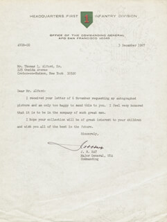LT. GENERAL JOHN H. HAY - TYPED LETTER SIGNED 12/03/1967