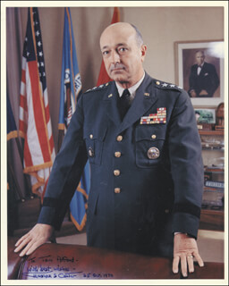 Autographs: LT. GENERAL MARSHALL S. CARTER - INSCRIBED PHOTOGRAPH SIGNED 10/25/1970