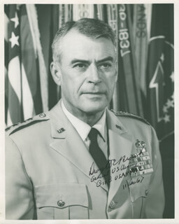 Autographs: GENERAL DWIGHT E. BEACH - PHOTOGRAPH SIGNED 12/11/1967