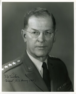 GENERAL THEODORE W. PARKER - AUTOGRAPHED SIGNED PHOTOGRAPH