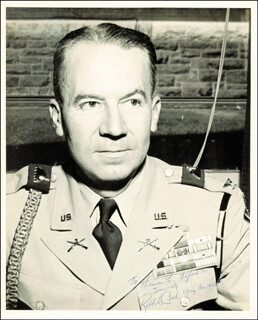 BRIGADIER GENERAL ROBERT L. COOK - AUTOGRAPHED INSCRIBED PHOTOGRAPH
