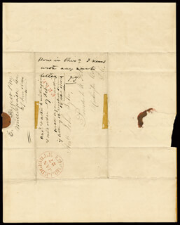 Autographs: PRESIDENT JOHN TYLER - AUTOGRAPH NOTE SIGNED 01/27/1844 CO-SIGNED BY: E. DAGGETT