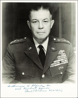 Autographs: GENERAL PAUL D. ADAMS - INSCRIBED PHOTOGRAPH SIGNED
