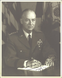 GENERAL CLYDE D. EDDLEMAN - AUTOGRAPHED INSCRIBED PHOTOGRAPH