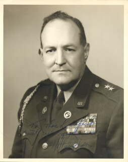 GENERAL HARRY H. VAUGHAN - AUTOGRAPHED INSCRIBED PHOTOGRAPH