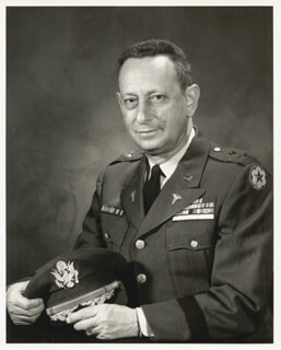 Autographs: MAJOR GENERAL JOE M. BLUMBERG - INSCRIBED PHOTOGRAPH SIGNED