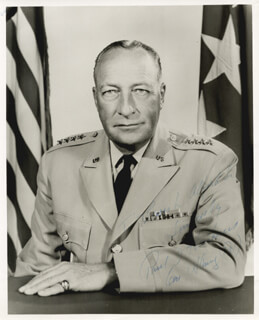 GENERAL PAUL D. HARKINS - AUTOGRAPHED INSCRIBED PHOTOGRAPH
