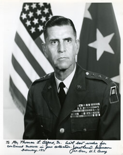 LT. GENERAL JONATHAN O. SEAMAN - AUTOGRAPHED INSCRIBED PHOTOGRAPH 02/1971