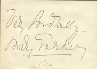 MARY GARDEN - AUTOGRAPH SENTIMENT SIGNED 1914