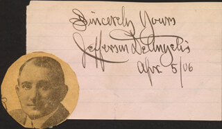 JEFFERSON DEANGELIS - AUTOGRAPH SENTIMENT SIGNED 04/05/1906