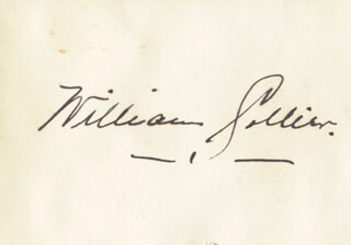 WILLIAM COLLIER SR. - AUTOGRAPH