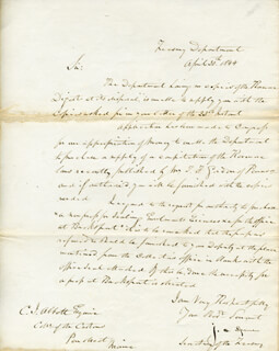 JOHN C. SPENCER - MANUSCRIPT LETTER SIGNED 04/30/1844