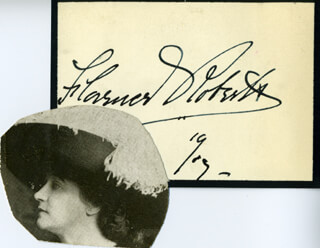 FLORENCE ROBERTS - AUTOGRAPH 1919