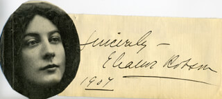 ELEANOR ROBSON BELMONT - AUTOGRAPH SENTIMENT SIGNED CIRCA 1907