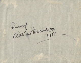 WILLIAM FAVERSHAM SR. - AUTOGRAPH 1914