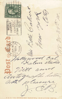 JOHN E. BRENNAN - AUTOGRAPH NOTE ON PHOTOGRAPH SIGNED 06/16/1914