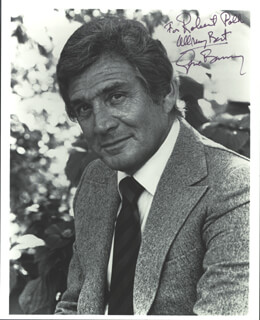 GENE BARRY - AUTOGRAPHED INSCRIBED PHOTOGRAPH