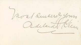 ADELAIDE KEIM - AUTOGRAPH SENTIMENT SIGNED