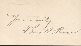 THOMAS W. ROSS - AUTOGRAPH SENTIMENT SIGNED