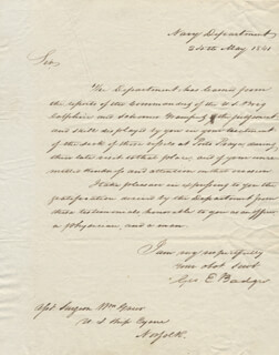 Autographs: GEORGE E. BADGER - MANUSCRIPT LETTER SIGNED 05/24/1841