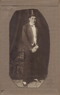 ALAN FORREST - AUTOGRAPHED SIGNED PHOTOGRAPH CIRCA 1915