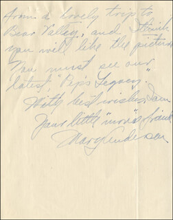 MARY ANDERSON - AUTOGRAPH LETTER SIGNED 10/04/1916