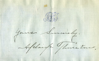 ADELAIDE THURSTON - AUTOGRAPH SENTIMENT SIGNED