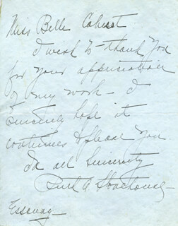 RUTH A. STONEHOUSE - AUTOGRAPH LETTER SIGNED