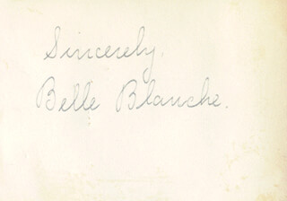 BELLE BLANCHE - AUTOGRAPH SENTIMENT SIGNED