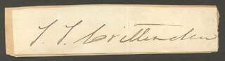 GOVERNOR THOMAS T. CRITTENDEN - CLIPPED SIGNATURE