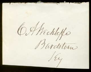 Autographs: CHARLES ANDERSON WICKLIFFE - SIGNATURE(S)