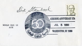 LT. COMMANDER DICK (RICHARD E.) STAMBOOK - COMMEMORATIVE ENVELOPE SIGNED