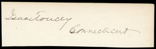 ISAAC TOUCEY - AUTOGRAPH