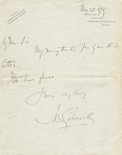 JOHN GALSWORTHY - AUTOGRAPH LETTER SIGNED 05/23/1919