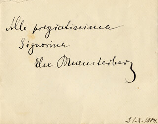 ELEONORA DUSE THE GOD DUSE - AUTOGRAPH ENVELOPE UNSIGNED CIRCA 1904