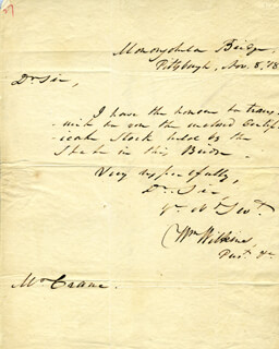 WILLIAM WILKINS - AUTOGRAPH LETTER SIGNED 11/08/1818
