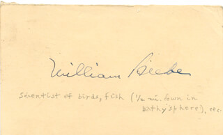 WILLIAM (CHARLES WILLIAM) BEEBE - AUTOGRAPH