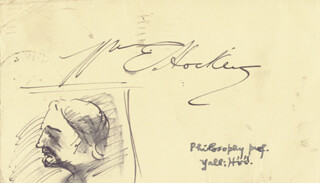 Autographs: WILLIAM E. HOCKING - SELF-CARICATURE SIGNED CIRCA 1944