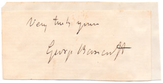 GEORGE BANCROFT - AUTOGRAPH SENTIMENT SIGNED