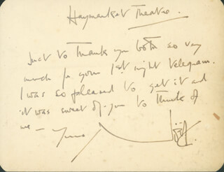 SIR NOEL COWARD - AUTOGRAPH LETTER SIGNED